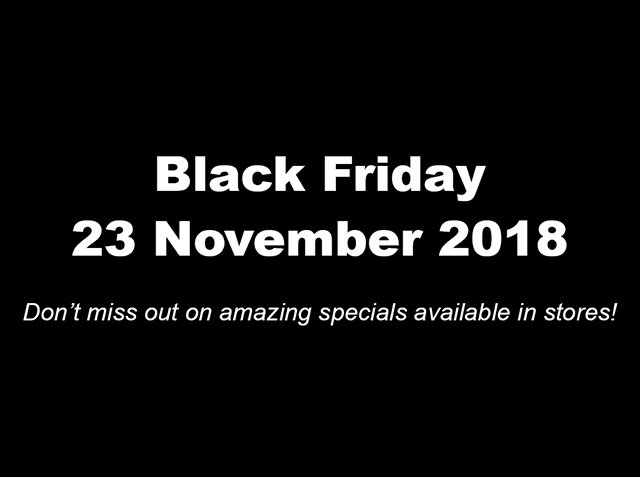 Black Friday – specials galore!
