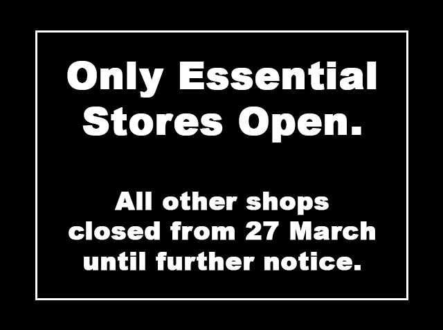 Essential shops open during lockdown.